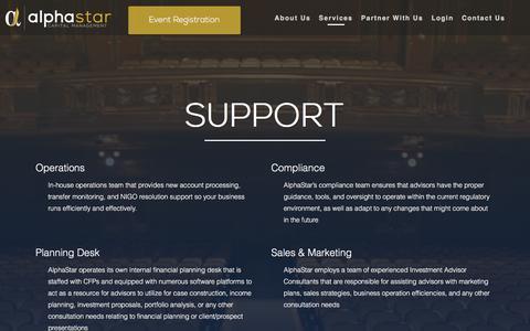Screenshot of Support Page alphastarcm.com - Support | AlphaStar Capital Management - captured Oct. 8, 2017