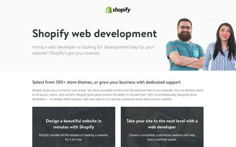 Screenshot of Landing Page shopify.com - Ecommerce web developers - website development companies. - captured Oct. 18, 2016
