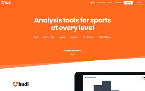 Screenshot of Products Page hudl.com - Performance analysis tools for sports at every level | Hudl - captured Dec. 16, 2017