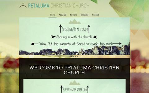 Screenshot of Home Page petalumachristian.org - Petaluma Christian Church - captured Nov. 5, 2016