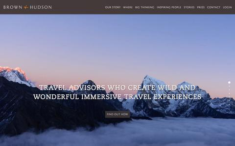 Screenshot of Home Page brownandhudson.com - Brown and Hudson | Discover truly bespoke travel - captured May 28, 2018