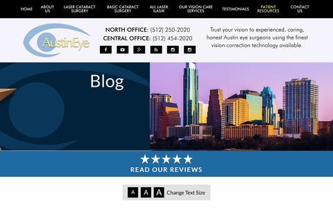 Screenshot of Blog austineye.com - Blog - Austin Eye - captured Oct. 25, 2018