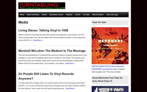 Screenshot of Press Page turntabling.net - Browsing the Category  -  » Media - captured Nov. 5, 2014