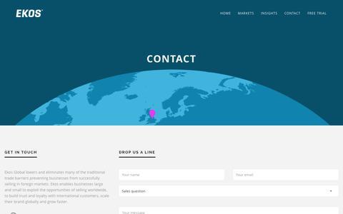 Screenshot of Contact Page ekosglobal.com - Contact — Ekos Global - captured Jan. 27, 2016