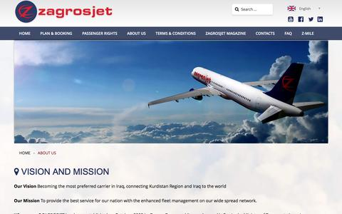 Screenshot of About Page zagrosjet.com - ABOUT US - captured Nov. 18, 2016