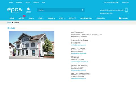 Screenshot of Team Page eposcomputer.com - Kontakt - epos Computer - captured March 28, 2017