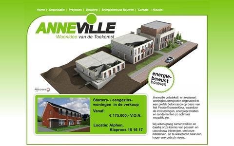 Screenshot of Home Page anneville.com - anneville - captured Oct. 4, 2014