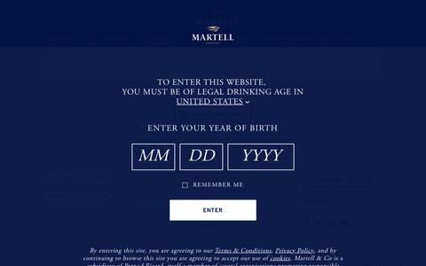 Screenshot of Signup Page martell.com - Sign up | Martell - captured Oct. 17, 2017
