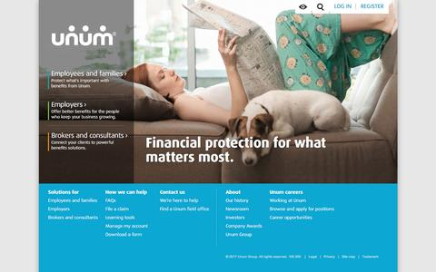 Disability, Life and Financial Protection | Benefits | Unum Insurance