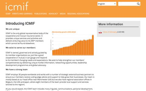 Screenshot of About Page icmif.org - Introducing ICMIF | ICMIF - captured May 26, 2017