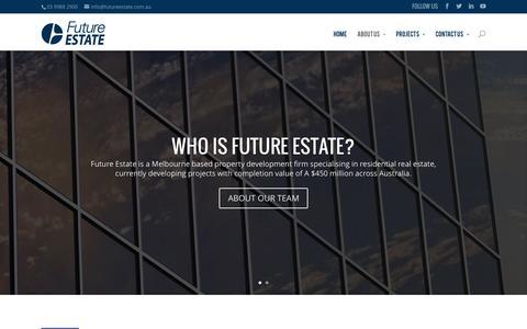 Screenshot of About Page futureestate.com.au - About Future Estate - captured Aug. 3, 2015