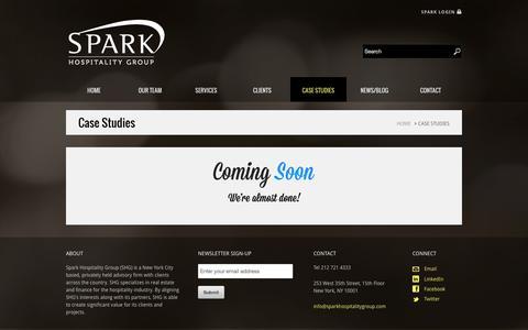 Screenshot of Case Studies Page sparkhospitalitygroup.com - Case Studies « Spark Hospitality Group Spark Hospitality Group - captured Oct. 6, 2014