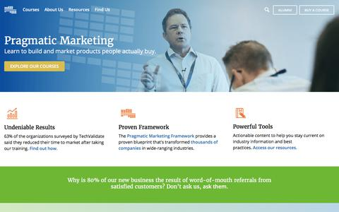Pragmatic Marketing: Product Management & Marketing Training