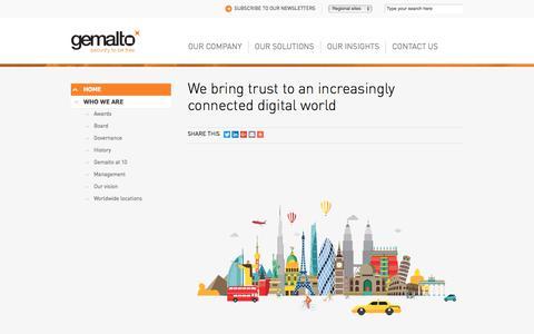 Screenshot of About Page gemalto.com - Gemalto Company Info - captured Nov. 23, 2017