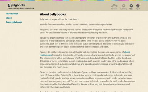 Jellybooks - Introduction  - Pages