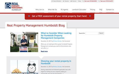 Screenshot of Blog rpmhumboldt.com - Humboldt CA Property Management Blog   Real Property Management Humboldt - captured Nov. 24, 2017
