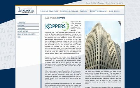 Screenshot of Case Studies Page innovateec.com - Innovate E-Commerce - captured Oct. 6, 2014