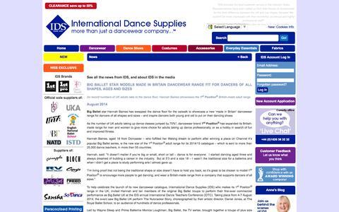 Screenshot of Press Page ids.co.uk - IDS: International Dance Supplies Ltd - more than just a dancewear company … ™ - captured Sept. 19, 2014
