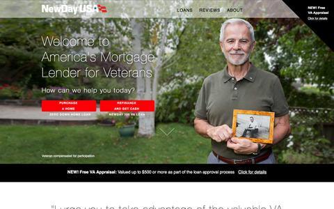 Screenshot of Home Page newdayusa.com - NewDay USA | Home - captured Jan. 10, 2016