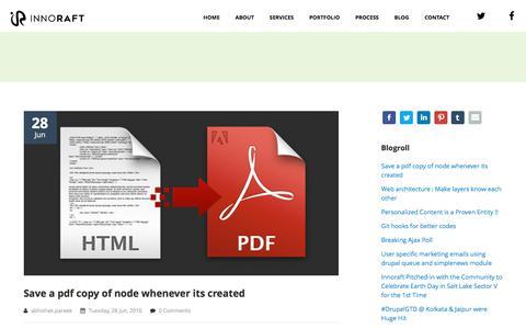 Screenshot of Blog innoraft.com - Blogs   Innoraft - captured June 7, 2017