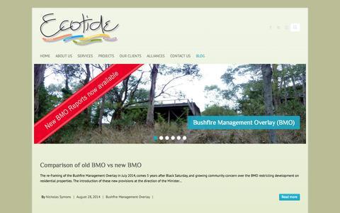 Screenshot of Blog ecotide.com.au - Blog - Ecotide - captured Sept. 29, 2014