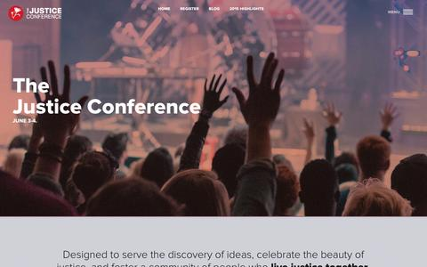 Screenshot of Press Page thejusticeconference.com - The Justice Conference | Pre-Conference - captured Dec. 10, 2015