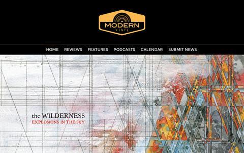 Screenshot of Home Page modern-vinyl.com - Modern Vinyl - captured Jan. 17, 2016