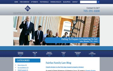 Screenshot of Blog wbymlaw.com - Fairfax Family Law Blog | Whitestone, Brent, Young & Merril, P.C. - captured Feb. 14, 2016