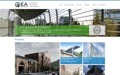 Screenshot of Home Page ea-buildings.com - EA Buildings - captured Sept. 26, 2014