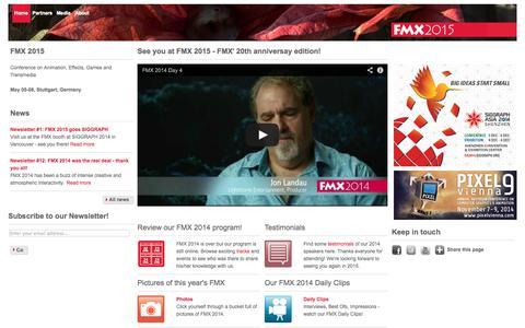 FMX: See you at FMX 2015 - FMX' 20th anniversay edition!