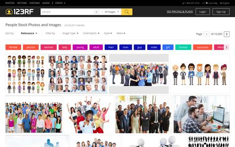 Screenshot of Team Page 123rf.com - People Stock Photos. Royalty Free People Images - captured June 9, 2018