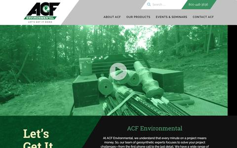 Screenshot of Home Page acfenvironmental.com - ACF Environmental: Geosynthetics & Erosion Control Products - captured Dec. 22, 2015