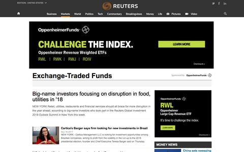 Exchange-Traded Funds | Reuters.com