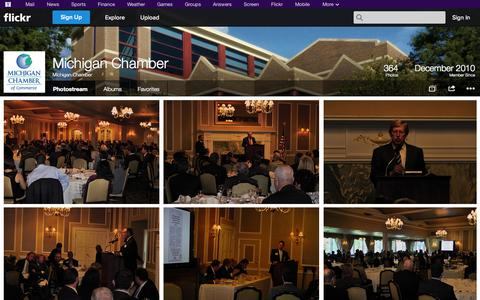 Screenshot of Flickr Page flickr.com - Flickr: Michigan Chamber's Photostream - captured Oct. 27, 2014