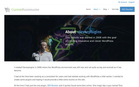 Screenshot of About Page cleverplugins.com - About cleverplugins.com and Lars Koudal and the WordPress plugins - captured Nov. 4, 2018