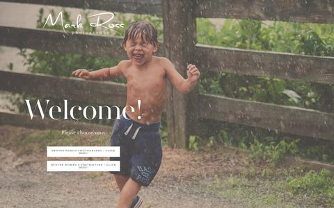 Screenshot of Home Page denver-family-photographer.com - Denver Family Photographer   Denver Portrait Photographer-Mark Ross Photography Home - captured July 8, 2018