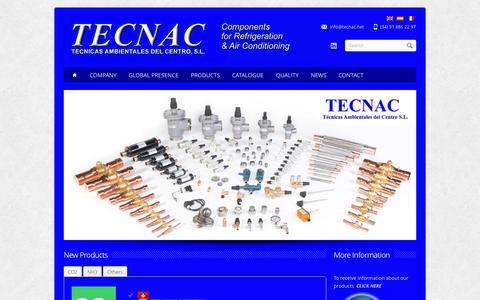 Screenshot of Home Page tecnac.net - TECNAC Refrigeracion. Tecnicas Ambientales del Centro - captured Jan. 26, 2015