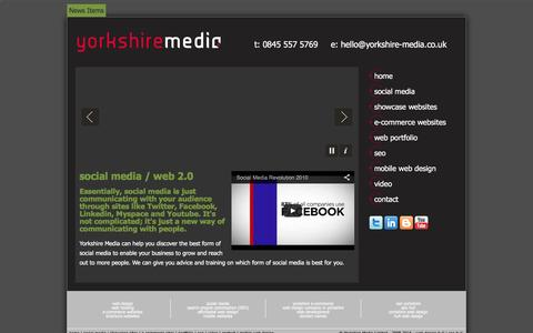 Screenshot of Press Page weststreetdesign.co.uk - Social Media advice, courses and workshops in Yorkshire | Twitter, Facebook, Myspace, Linkedin and YouTube - captured Feb. 25, 2016