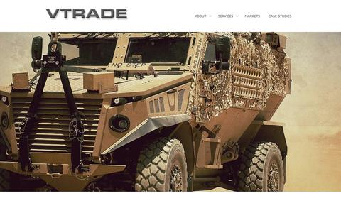 Screenshot of Home Page vtradeuk.com - Home - | VTrade Worldwide – Vehicle Engineering Solutions - captured Sept. 3, 2015