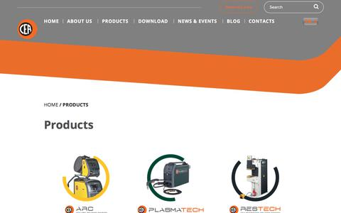 Screenshot of Products Page ceaweld.com - Products Archivi - Ceaweld - captured Feb. 9, 2018