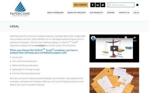 Screenshot of Terms Page papercone.com - Legal - Papercone - captured Nov. 9, 2018