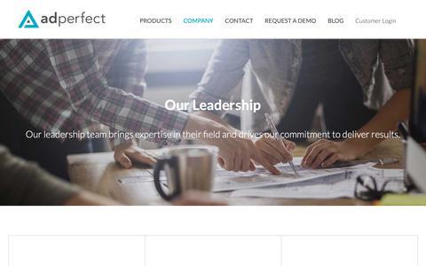 Screenshot of Team Page adperfect.com - AdPerfect - Team - captured Nov. 6, 2018