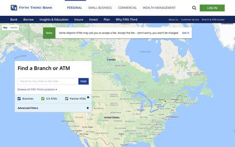 Find a Fifth Third Bank Branch or ATM near you