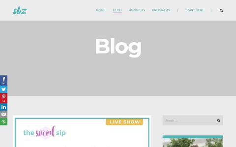 Screenshot of Blog suebzimmerman.com - Blog - SBZ Enterprise - captured Sept. 23, 2018