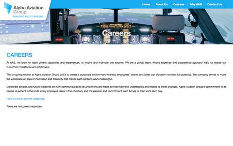 Screenshot of Jobs Page aag.aero - Careers | Alpha Aviation Group - captured Nov. 2, 2014