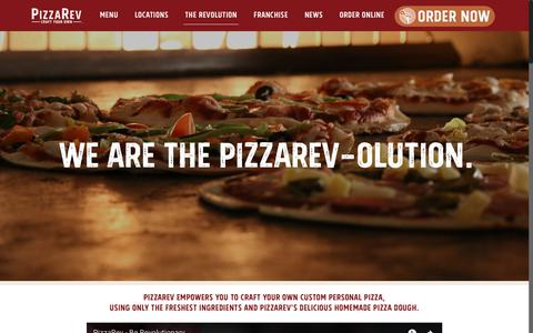 Screenshot of About Page Contact Page pizzarev.com - About Us - PizzaRev - captured July 19, 2018