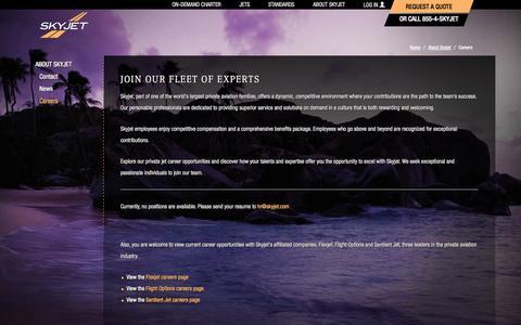 Screenshot of Jobs Page skyjet.com - Skyjet Careers - captured Oct. 29, 2014