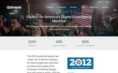 Obama's 2012 Campaign Increases Donation Conversions 49%