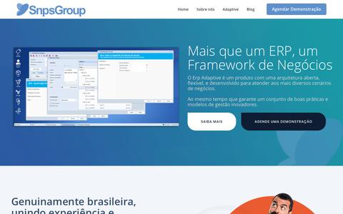 Screenshot of Home Page snpsgroup.com - SNPS Group – Sistemas ERP - captured Oct. 20, 2018