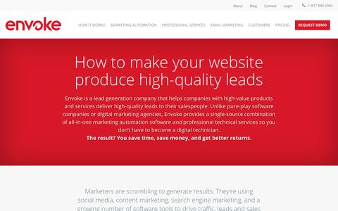 Lead Generation Company for High-Quality Inbound Leads | Envoke